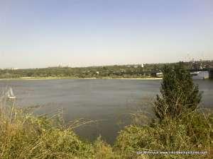 река Ингул и парк Победы с улицы Адмиральская
