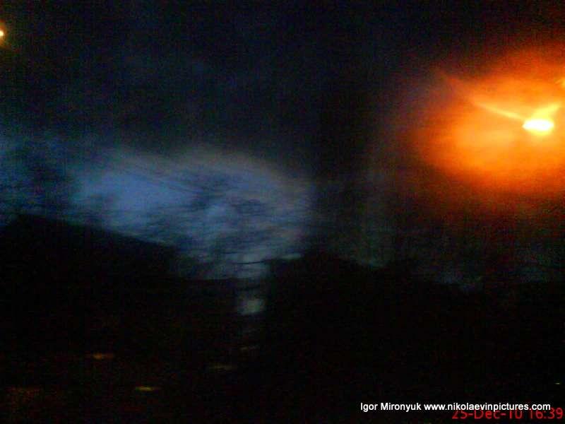 Ночной Николаев фото фонарь