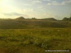 Вид на холмы в Порожнече после полудня.