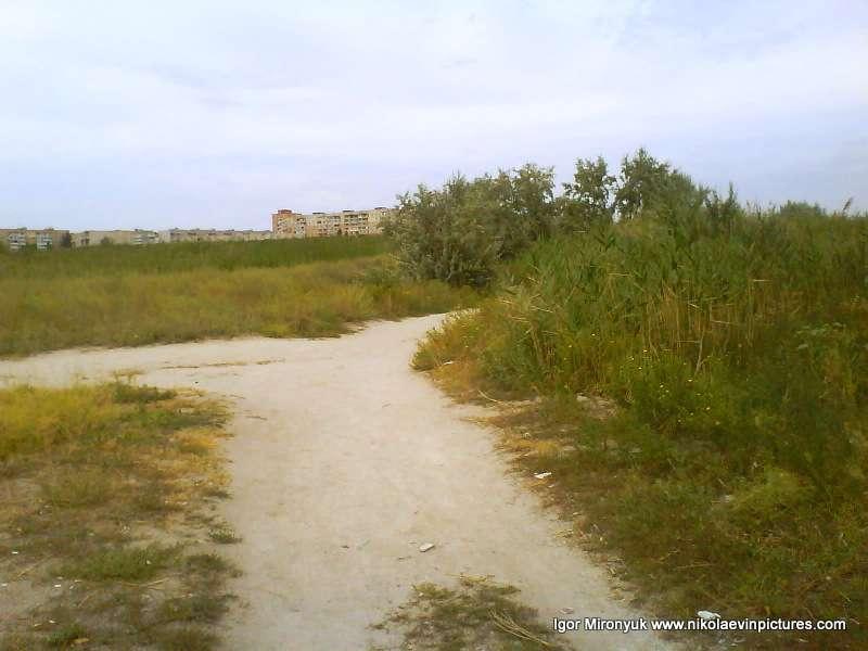 Лесковская коса, Намыв - Пересечение дорог