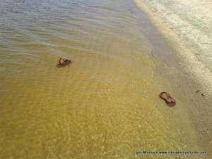 Спасская коса и плавающая обувь