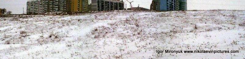 Порожнеча зимой в режиме Панорама